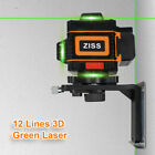 Green Laser Level 4/8/12 lines Cross Line Laser Auto Self Leveling 360° Rotary