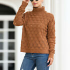 Womens Turtleneck Sweater Outwear Casual Knitted Pullover Elastic Loose Tops