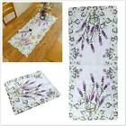 Party Tablecloth Lavender Lace Tulle Decor Embroidered Table Flag Table Flag Cf