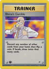 Blaine's Gamble Trainer Common Pokemon Card 1st Edition Gym Heroes 121/132