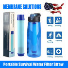 3-Stage Portable Water Filter Straw Purifier Camping Emergency Survival Tool