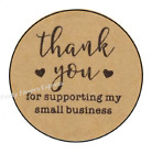 Kyпить 30 THANK YOU FOR SUPPORTING MY BUSINESS ENVELOPE SEALS LABELS STICKERS 1.5