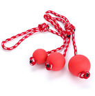 Bite Toy Dog Tug Rope Rubber Ball Red Chew Toys Pet Tooth Cleaning With Rope