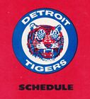 1970's to 2000's MLB Detroit Tigers Baseball Schedule - U-Pick From List on Ebay