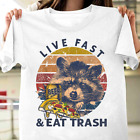 Live Fast and Eat Trash Camping with Beer Vintage T-Shirt