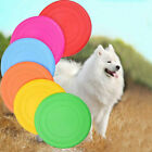 2 Pcs Silicone Frisbee Dog Toy Soft Rubber Flying Disk Safe Exercise Flyer