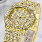 Men Hip Hop Iced Bling Diamond Watches Luxury Date Quartz Watch For Mens Womens image