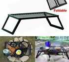 Foldable Grills Camping Stoves Black Metal Stability Stand Cooking Meats Outdoor