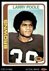 1978 Topps #184 Larry Poole Browns-FB Kent St 7 - NM $2.0 USD on eBay