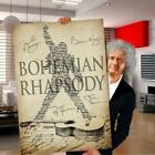 Queen band songs bohemian rhapsody lyrics member signed poster (no frame)