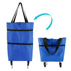 Foldable Trolley Bag Portable Shopping Storage Bags Food Grocery Cart On Wheels