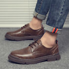 Mens Work Office Party Oxfords Flats Chic Low Top Business Leisure Leather Shoes