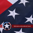 2x3 3x5 4x6 5x8 6x10 Ft Nylon Embroidered Stars Brass Grommets American USA Flag