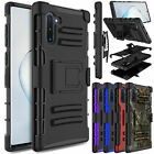 For Samsung Galaxy Note 10 Plus/10+ 5G Case Slim Armor Belt Clip Kickstand Cover