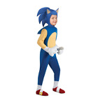 Anime Sonic the Hedgehog Cosplay Costume Kids Stage Performance Tights Jumpsuit