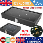 72 Position Ring Display Tray Jewelry Organizer Box Earrings Holder Case Storage