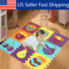 9x Baby Children Kids Play Mats Alphabet Animal Soft EVA Floor Mat Puzzle   USA