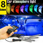4X 18 LED Car Interior Strip Lights RGB Atmosphere Decor USB Bar Neon Lamp