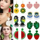 Fashion Boho Glass Seed Bead Tassel Stud Earrings Drop Dangle Women Earrings Hot image