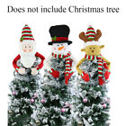 Snowman Christmas Tree Topper Lovely Hug Party Decoration Elk Non-woven Cloth