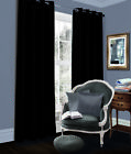 BLACKOUT CURTAINS Eyelet Ring Top Thermal Fully Lined Solar Pair Ready Made