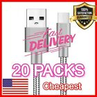 3ft Braided Type C Fast Charging Cable USB-C 3.1 Rapid Power Charger Cord LOT US
