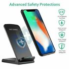 Qi Wireless Fast Charger Charging Dock Stand For iPhone 11 X 8 8 Plus XS Max XR