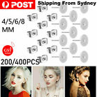 200/400pcs Earring Stud Posts Pads & Nut Backs Silvery Stainless Steel Diy Craft