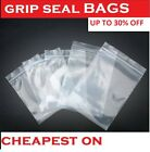 Grip Lock Seal Small Re-sealable Plastic Bags Coin Jewellery [ All Size ]