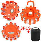 Kyпить 3x LED Road Flashing Warning Flares Lights Roadside Emergency Flare Disc Beacon на еВаy.соm