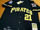 BRAND NEW Roberto Clemente Pittsburgh Pirates #21 2patches sewn Jersey BLACK Men on Ebay