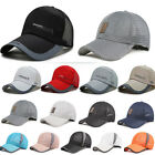 Unisex Summer Peaked Outdoor Mesh Cap Breathable Baseball Sports Anti-uv Hat New