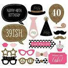 Happy Birthday Photo Booth Props Party Decor Selfie 16/18/21/30/40/50/60th UK