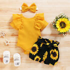 Kyпить Newborn Baby Girl 3PCS Clothes Floral Romper Jumpsuit Shorts Headband Outfit Set на еВаy.соm