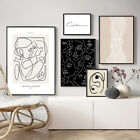Abstract Line Canvas Black White Wall Art Print Nordic Poster Modern Home Decor