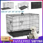 Dog Puppy Cage Pet Animal Training Carrier Crate Small Medium Large XL XXL Black