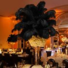 10~100Pcs Black Natural Ostrich Feathers 10-12 Inch Wedding Party Home Decor DIY