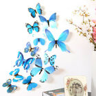 12 Pcs 3d Butterfly Wall Stickers Art Decal Home Room Decorations Decor Kids Au