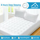ANMINY Pillow Top Mattress Pad Cover Protector Topper Quilted 300TC Cotton Top  image