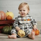 Mud Pie H0 Thanksgiving Halloween Girl Plaid Gingham Dress And Bib - Choose Size