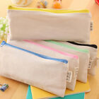 Vintage Canvas Pen Pencil Case Coin Purse Zipper Bag Cosmetic Makeup Bags Cf