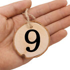 1-10 Valentine's Day Tables Seats Wood Slice Wall Numbers Cards Set Wedding