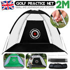2M Foldable Golf Driving Cage Practice Hitting Net Home Garden Trainer + Bag UK