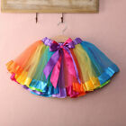 Princess Girls Tutu Skirt Party Dance Ballet Toddler Baby Costume Rainbow Skirts