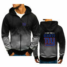 New York Giants Fans Hoodie Sports Zipper Sweatshirt Casual Hooded Jacket Gift $27.52 USD on eBay