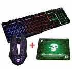 US T6 Black Rainbow Backlit Gaming Keyboard and Mouse for PS4 Xbox one PC Laptop