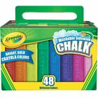 Crayola 48ct Washable Sidewalk Chalk Assorted Colors New! FREE FAST SHIPPING