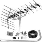 DIGITAL HD TV AERIAL WITH INSTALLATION KIT HIGH GAIN ARIAL 1st Class Delivery