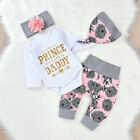 Kyпить Newborn Infant Baby Girl Romper Tops Pants Leggings+Hat+Headband Outfits Clothes на еВаy.соm