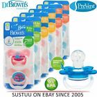 Dr Brown's Baby New Improved Options Prevent Infant Pacifier Dummy Soother 2PK